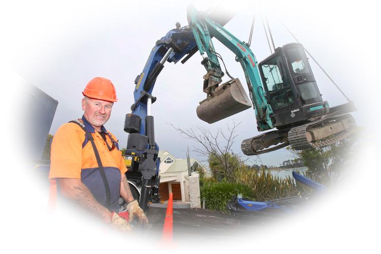 Remote controlled truck crane